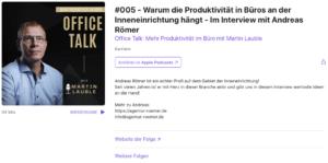 "Link zum Podcast ""Office Talk"""